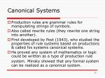 canonical systems