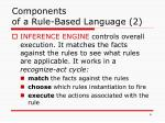 components of a rule based language 2