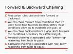 forward backward chaining