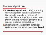 markov algorithm
