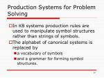 production systems for problem solving