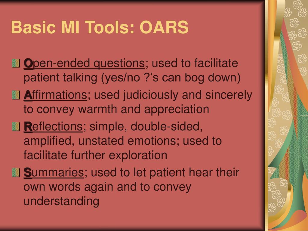 Basic MI Tools: OARS