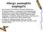 allergic eosinophilic esophagitis