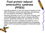 food protein induced enterocolitis syndrome fpies