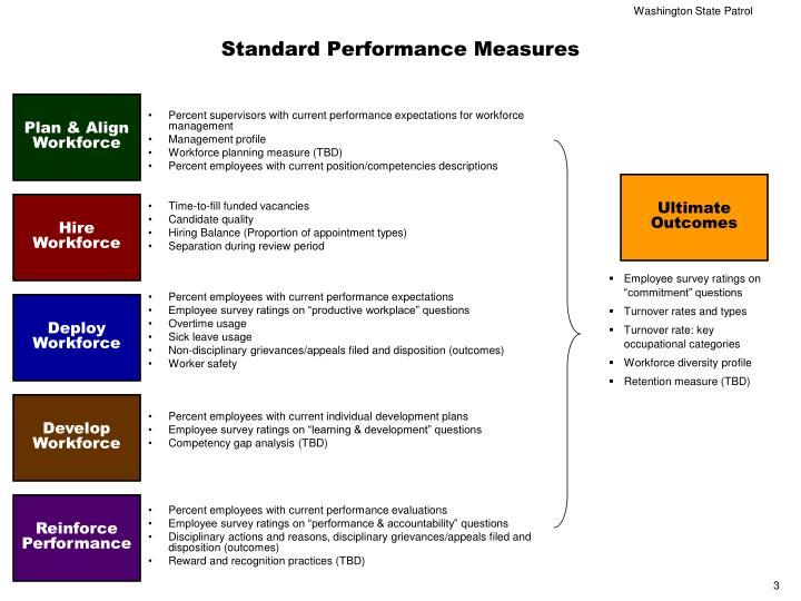 Standard performance measures