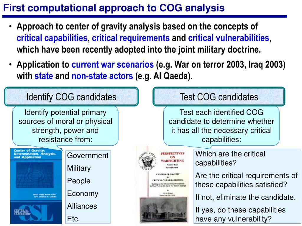 First computational approach to COG analysis