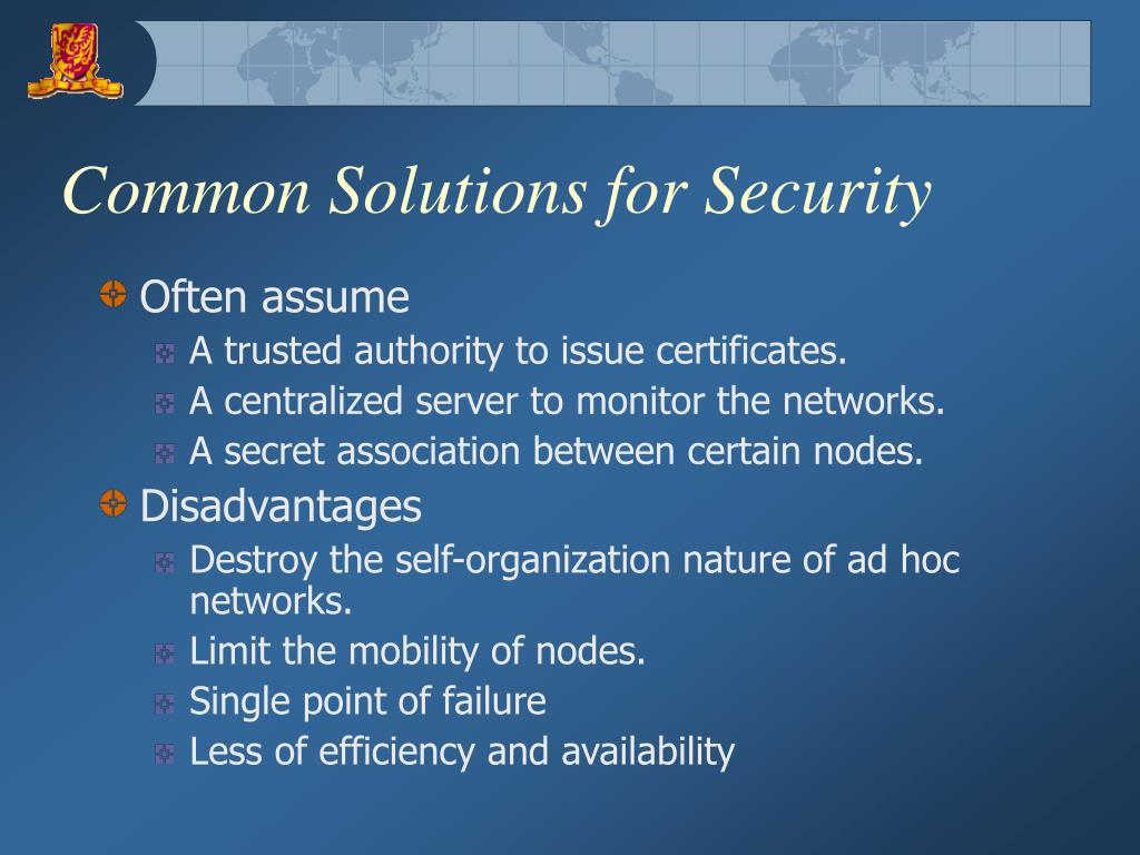 Common Solutions for Security