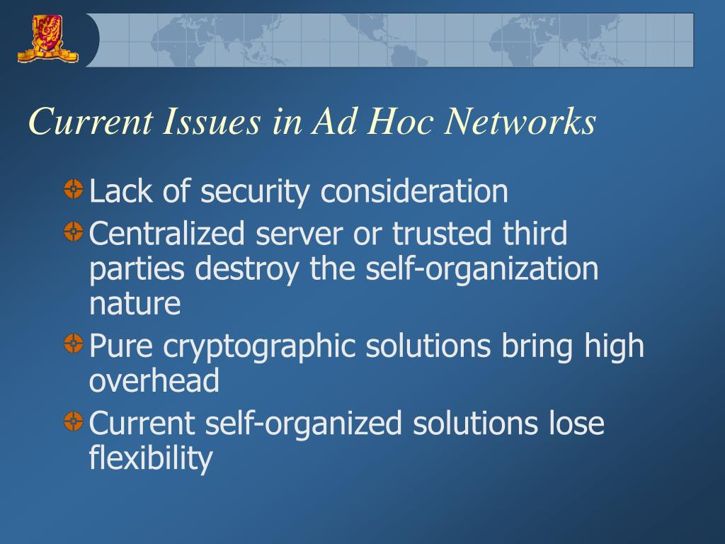 Current Issues in Ad Hoc Networks