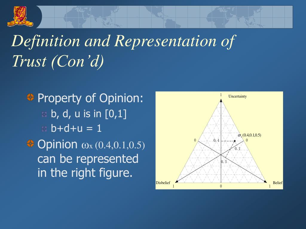 Definition and Representation of Trust (Con'd)