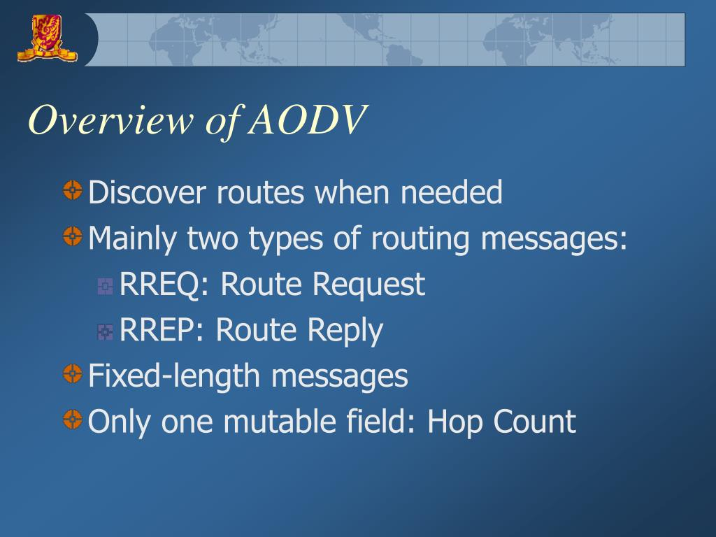 Overview of AODV