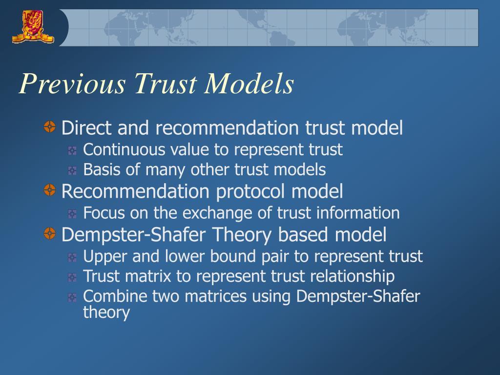 Previous Trust Models