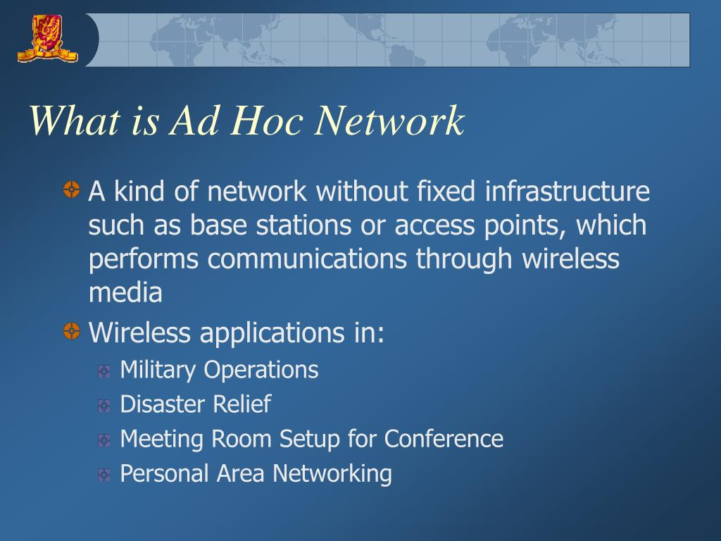 What is Ad Hoc Network