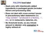 falcpa food label