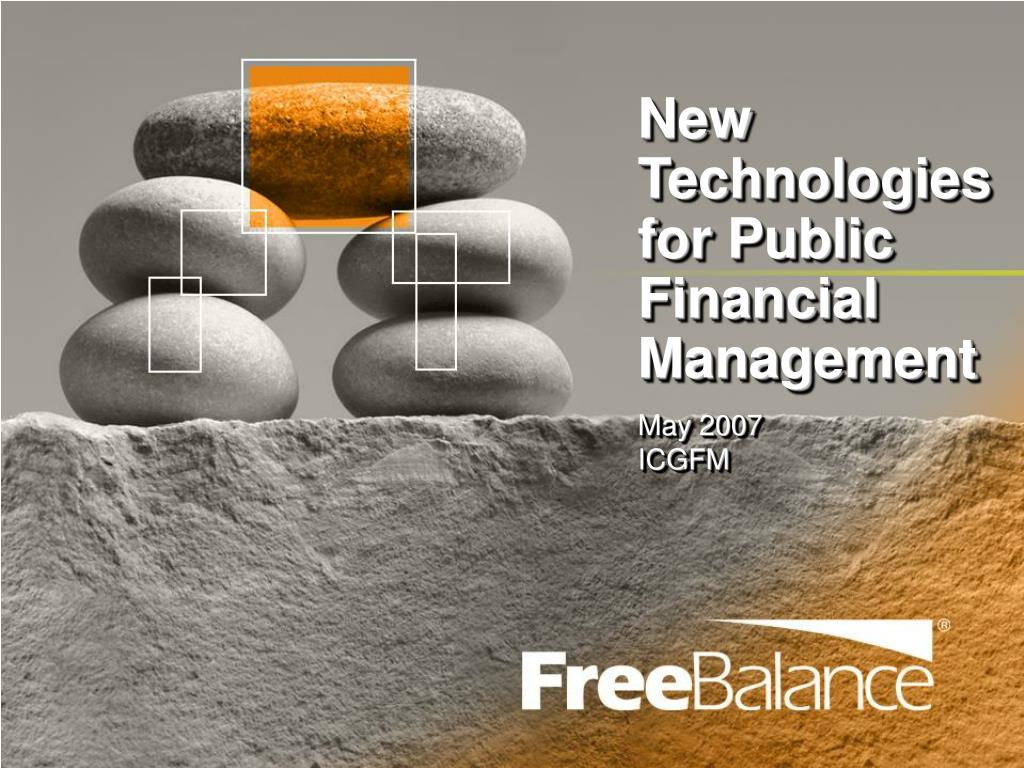 new technologies for public financial management l.