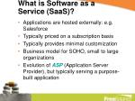 what is software as a service saas