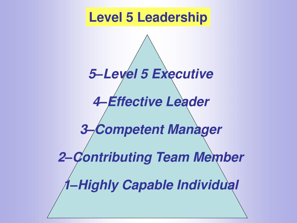 Level 5 Leadership