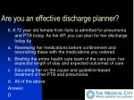 are you an effective discharge planner35