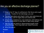 are you an effective discharge planner36