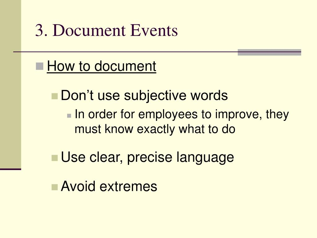 3. Document Events
