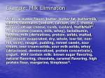 example milk elimination