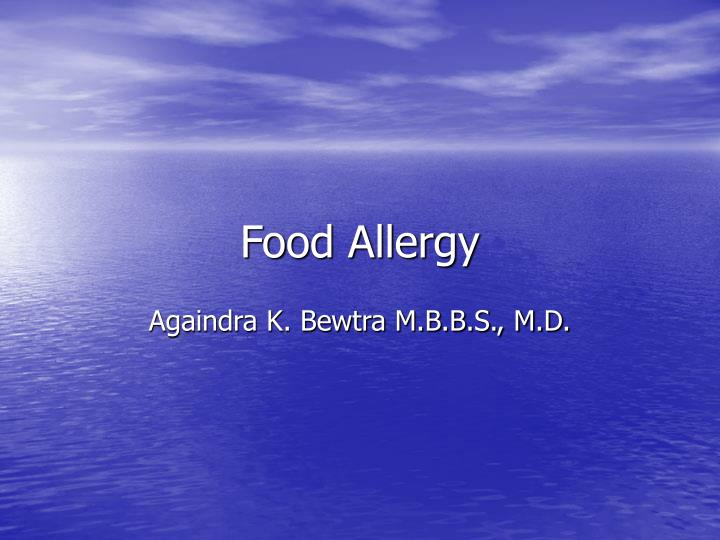 food allergy n.
