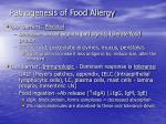 pathogenesis of food allergy