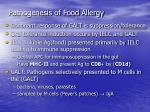 pathogenesis of food allergy1