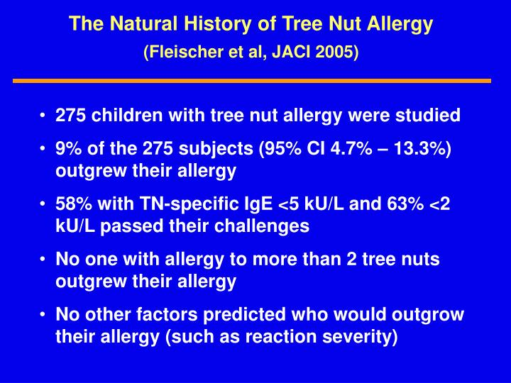 The Natural History of Tree Nut Allergy