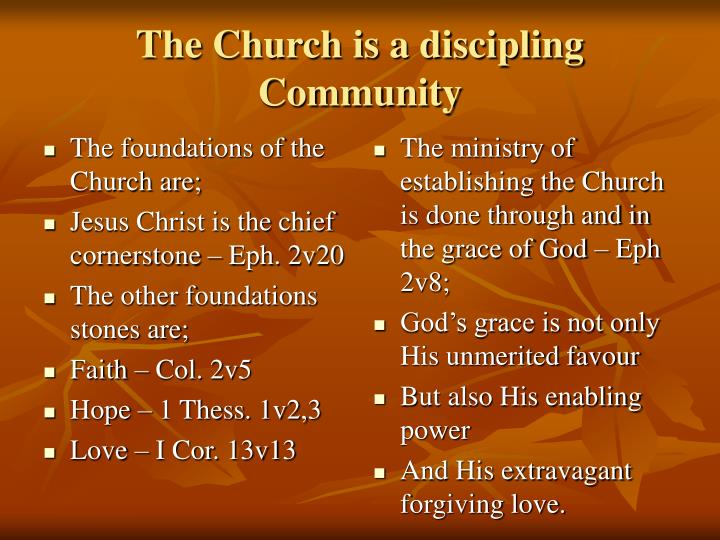 The church is a discipling community
