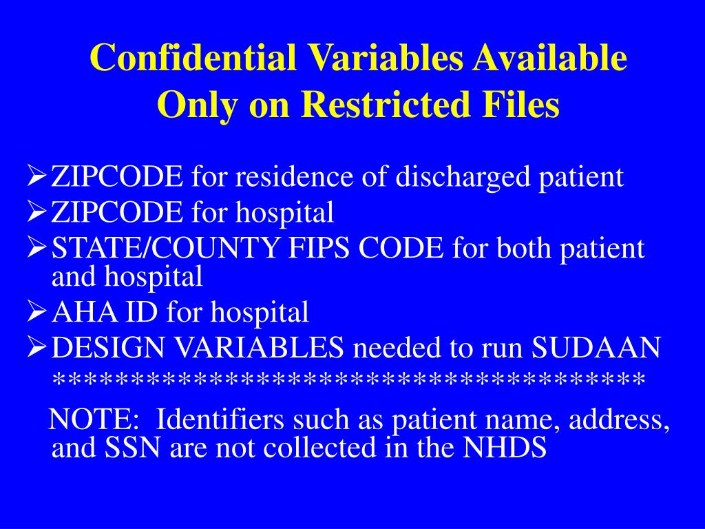Confidential Variables Available