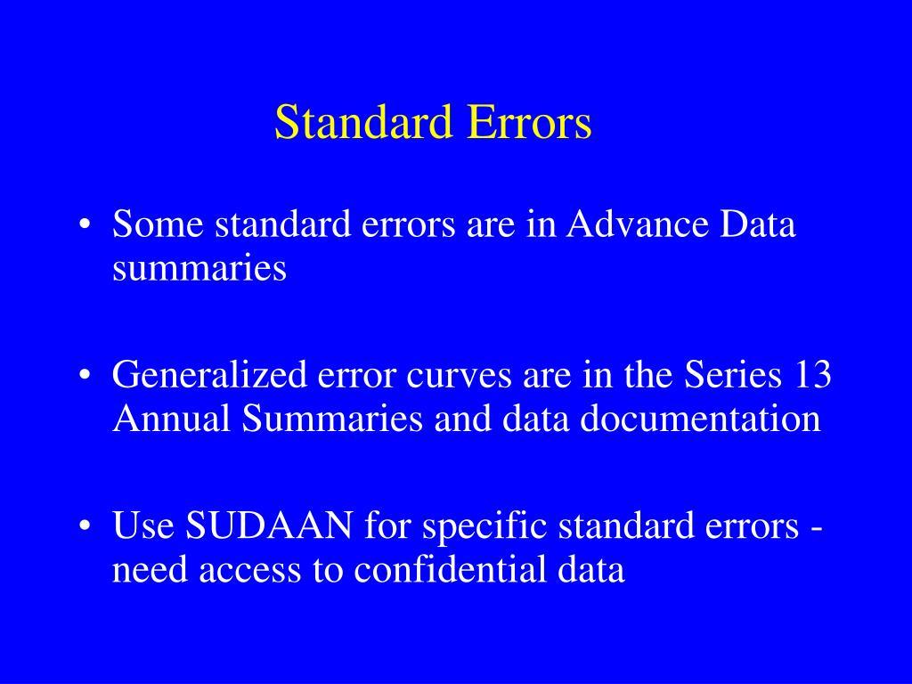 Standard Errors