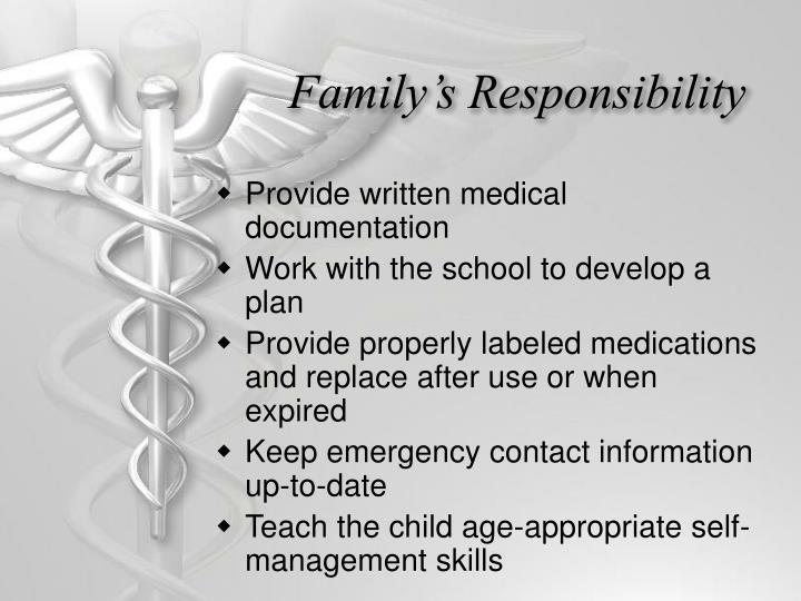 Family's Responsibility