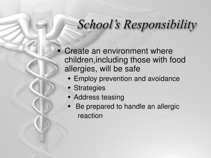 School's Responsibility