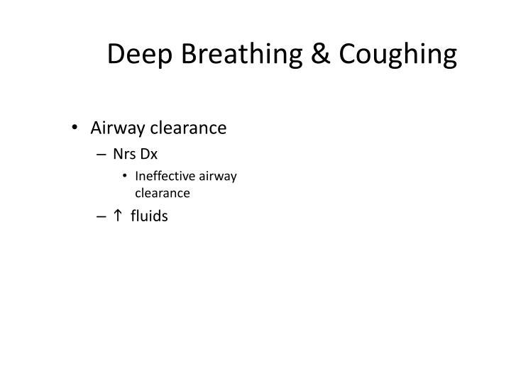 Deep breathing coughing