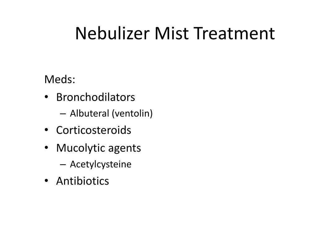 Nebulizer Mist Treatment