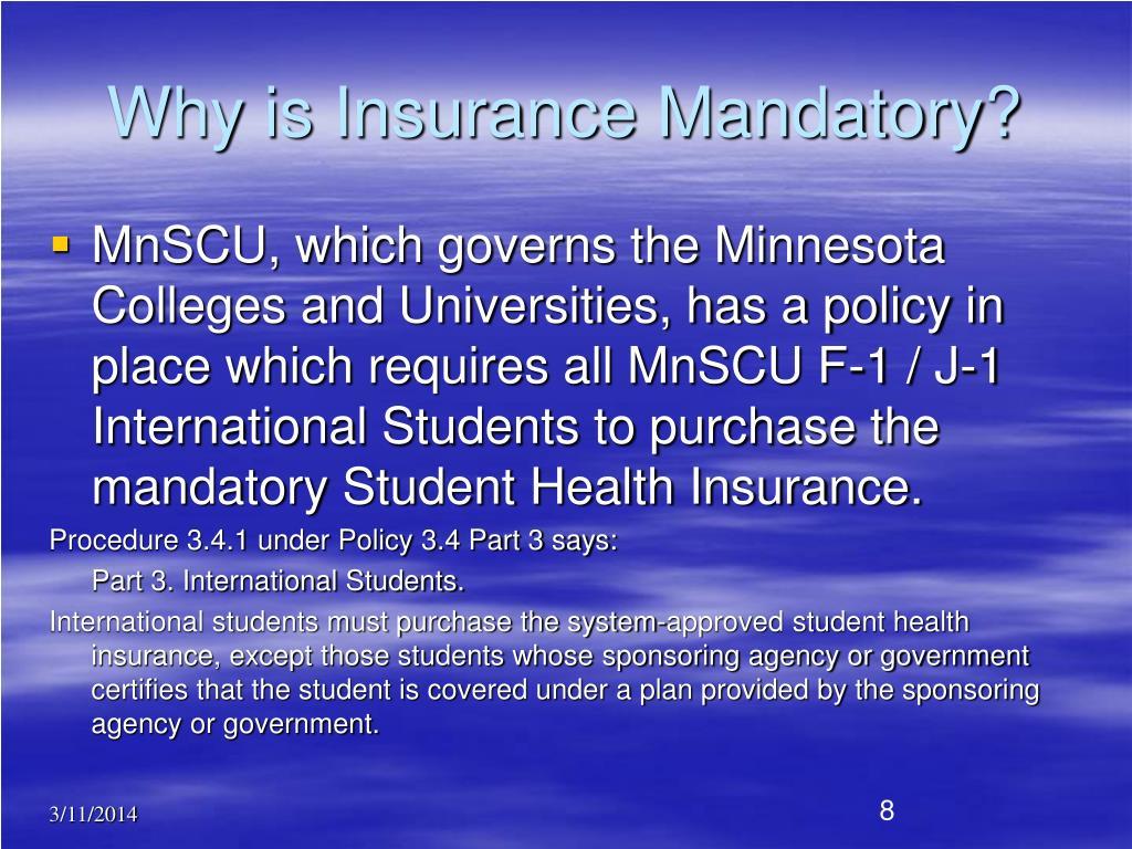 Why is Insurance Mandatory?
