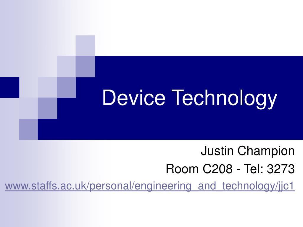 device technology l.