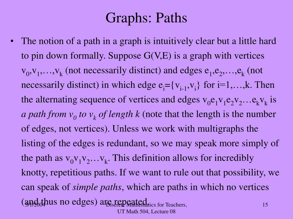 Graphs: Paths