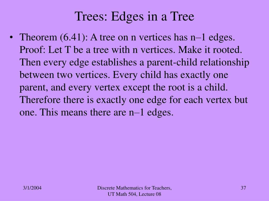 Trees: Edges in a Tree