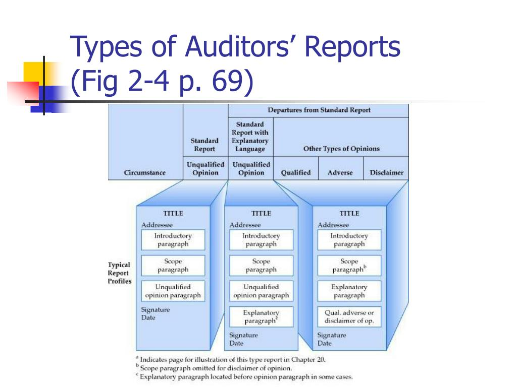 Types of Auditors' Reports