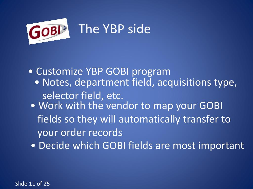 The YBP side