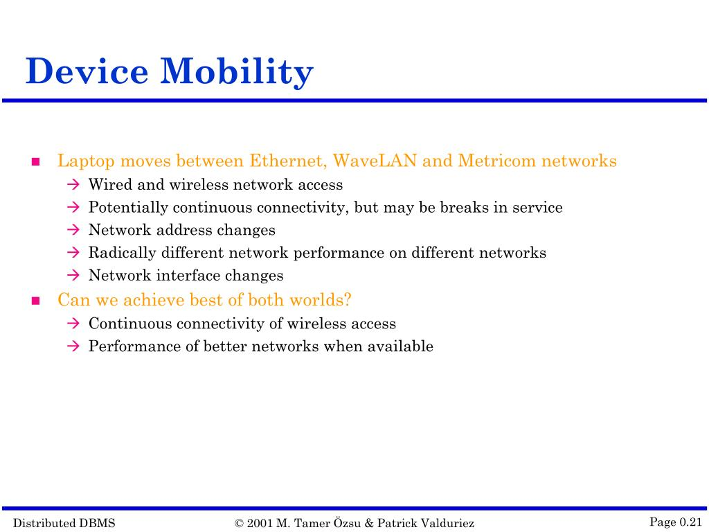 Device Mobility
