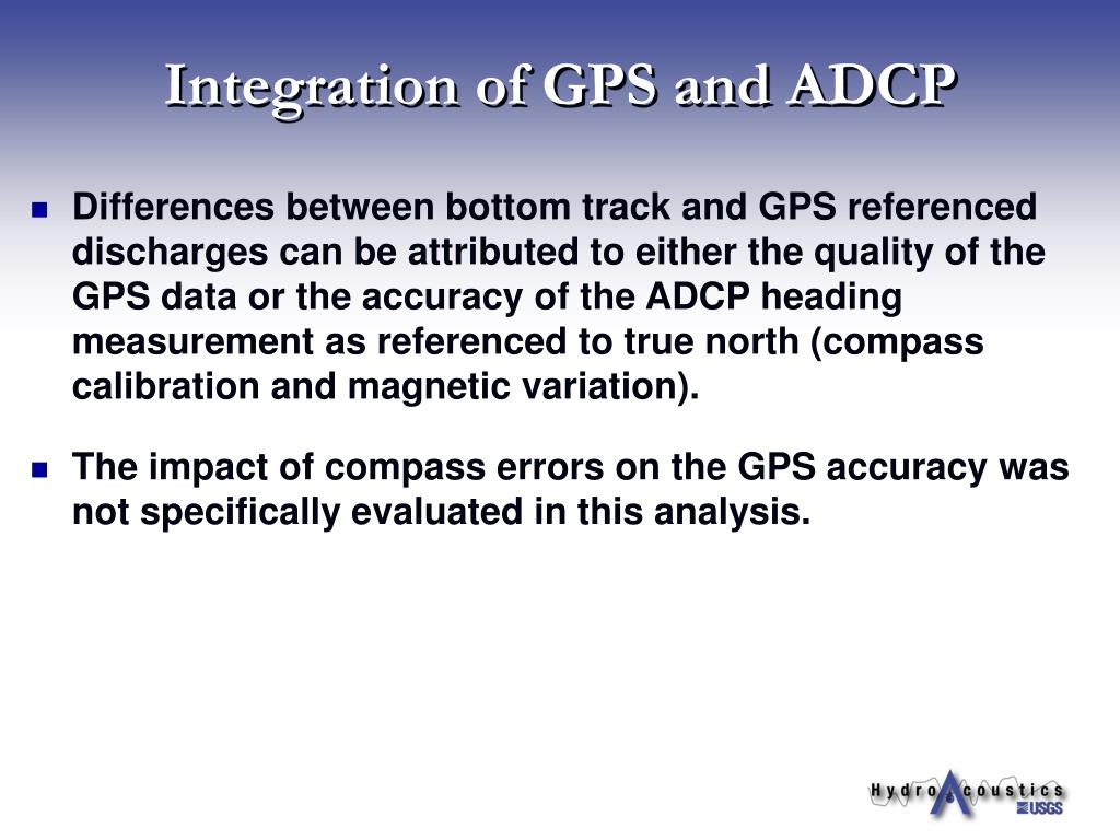 Integration of GPS and ADCP