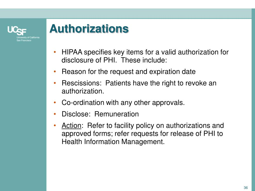 Authorizations