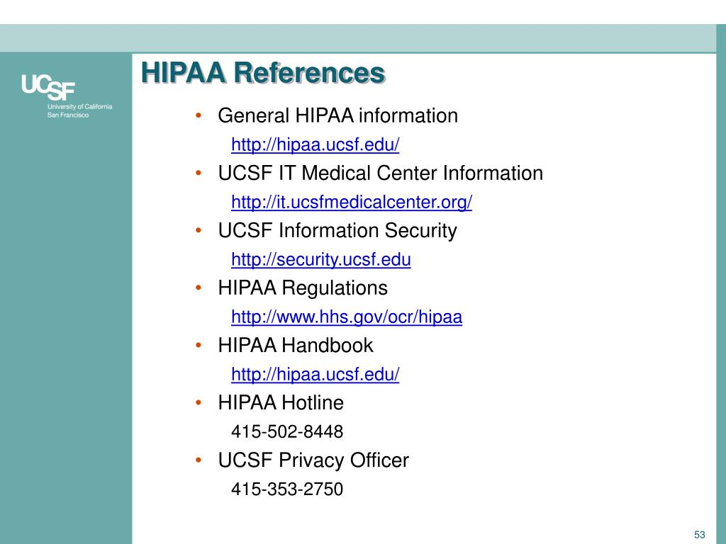 HIPAA References