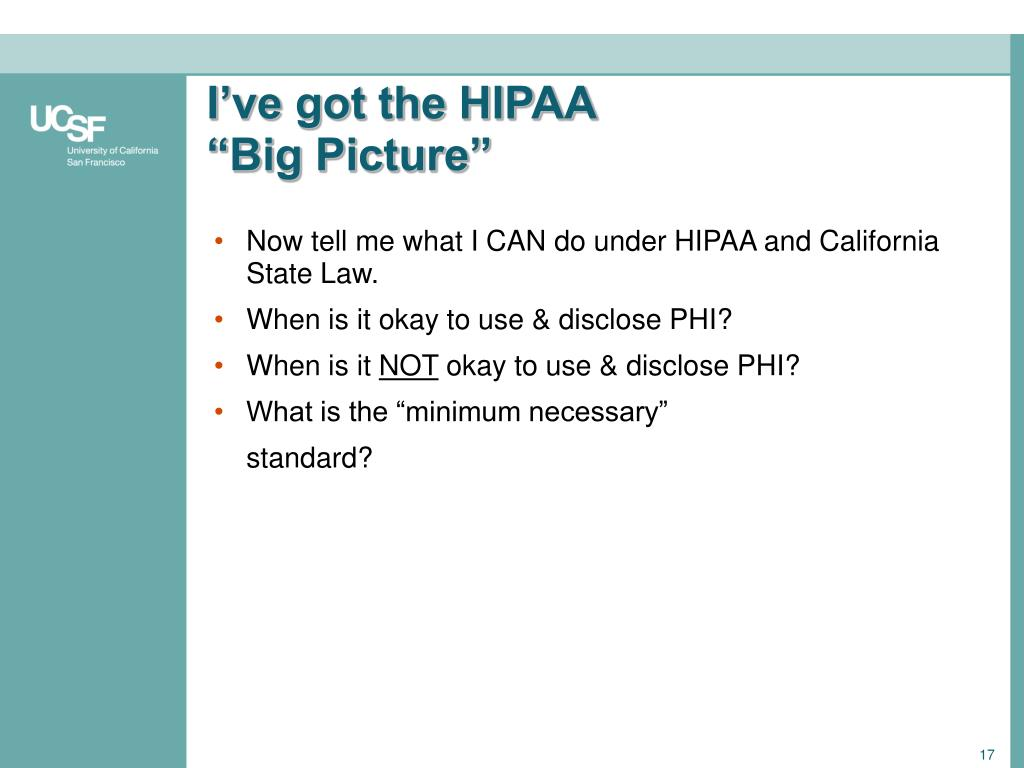 I've got the HIPAA