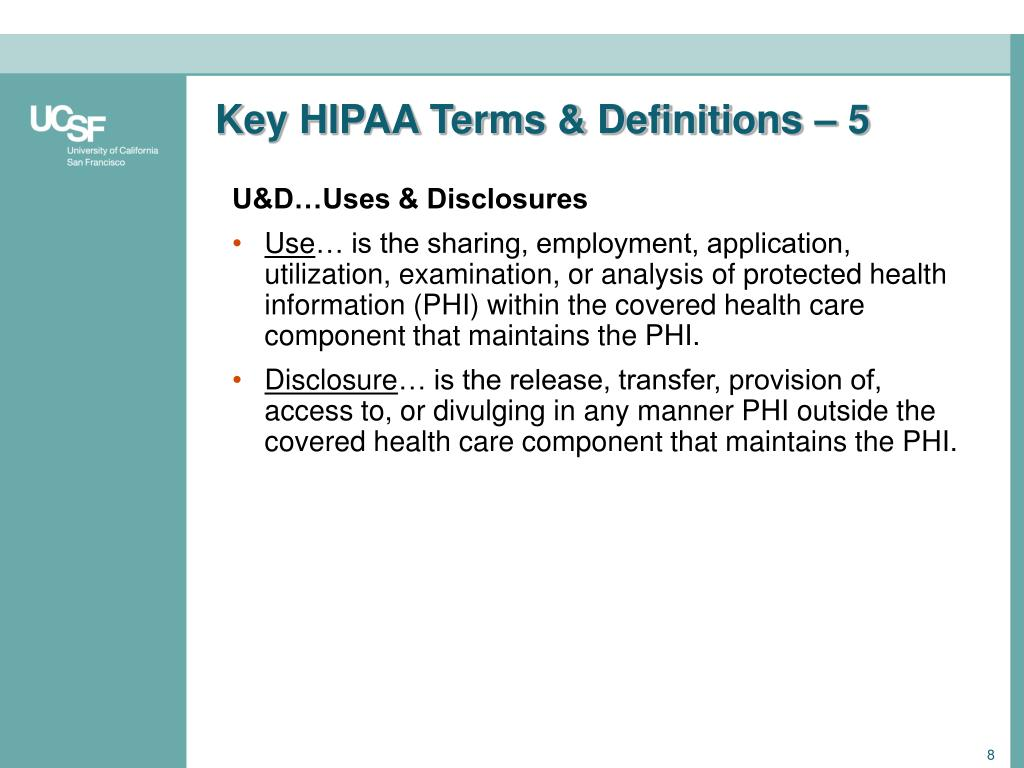 Key HIPAA Terms & Definitions – 5