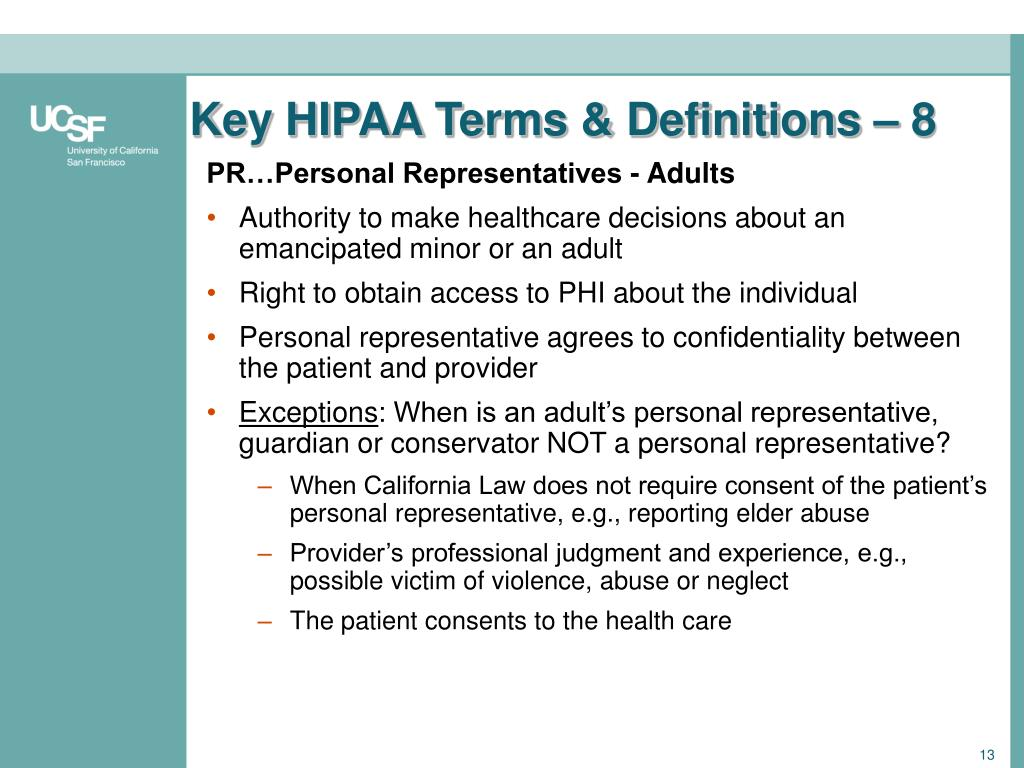 Key HIPAA Terms & Definitions – 8