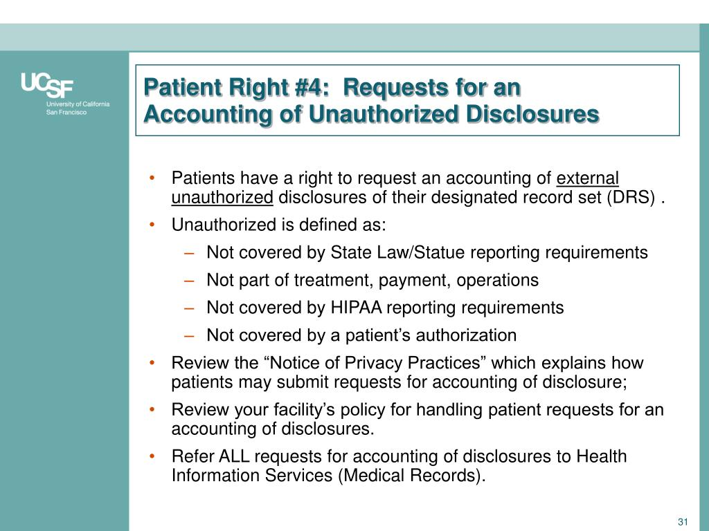 Patient Right #4:  Requests for an