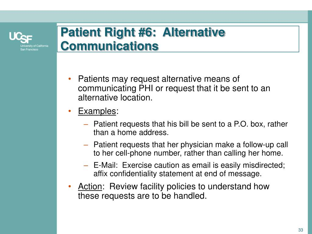Patient Right #6:  Alternative Communications